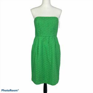 J. Crew Ella Strapless, Eyelet Dress, style 84792